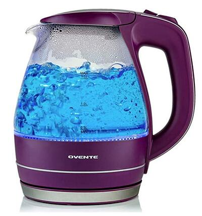 Ovente 1.5L BPA-Free Glass Electric Kettle
