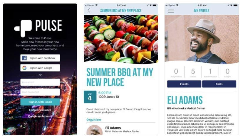 pulse app screenshots