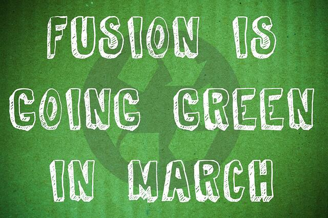Going green for March
