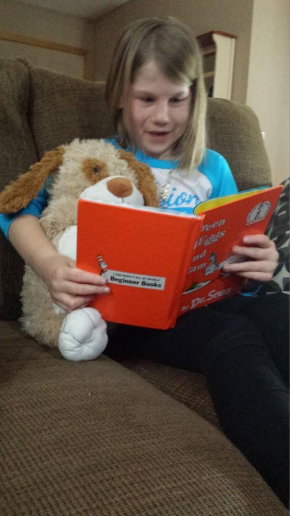 Libby reading