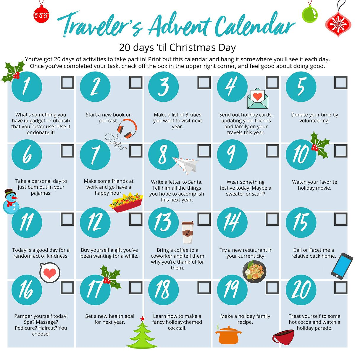 Travelers Advent Calendar