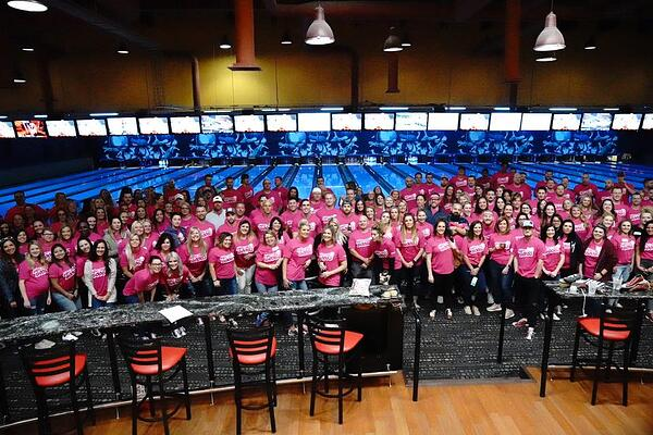 2018 Bowling for Boobs Group Pic