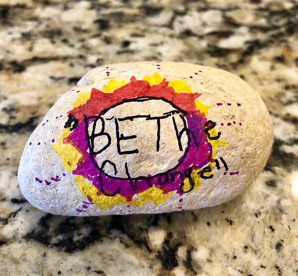 Be The Change Rock Image